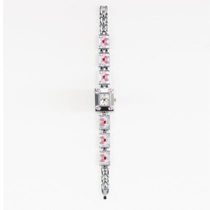 36813 Pink Butterfly Lady's Watch