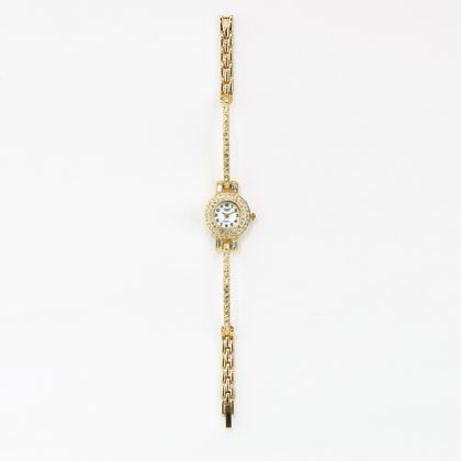 36814 Golden Crystals Bangle Lady's Watch