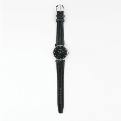 36820 Men's Black Dial Leather Watch