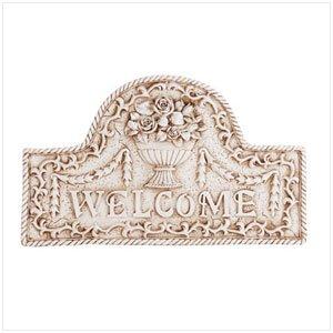 34173 Flower Basket Welcome Sign