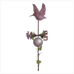 34345 Hummingbird Weathervane With Gazing Ball