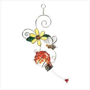 36031  FLOWER AND BEE BIRD FEEDER