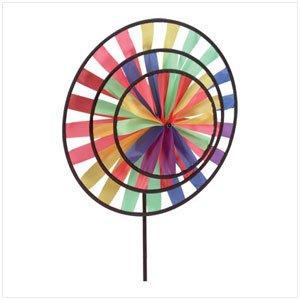 33333 Multicolor Triple Pinwheel Wind Wheel