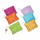 35542 PK 6 Coin Purses with Keychain (Retail - 3.99ea)