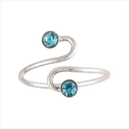 36924 Blue Spiral Toe Ring