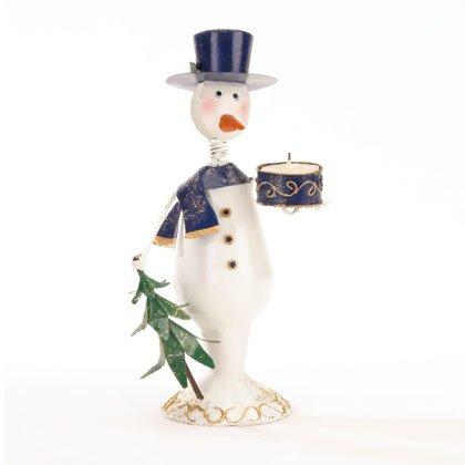 90021 Snowman Candleholder