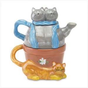 32299 Purr-Fect Tea for One Teapot Set