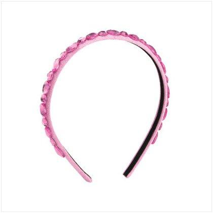 36951 Pink Headband with Pink Stones