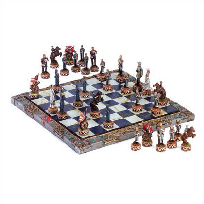 34736 Civil War Chess Set