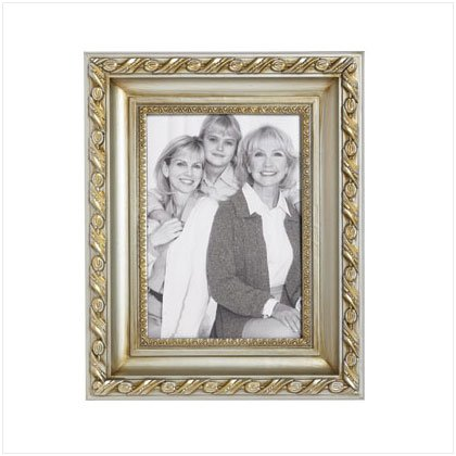 37003 Fancy Gold & Silver Photo Frame