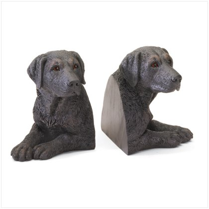 36987 Black Lab Bookends