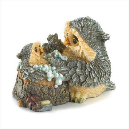 37010 Mother and Baby Owl Bathtime Figurine