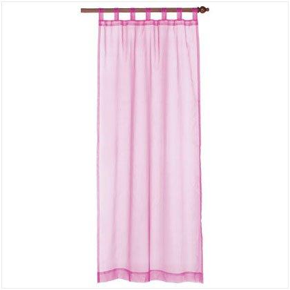 37060 Pink Organza Tab Top Curtain