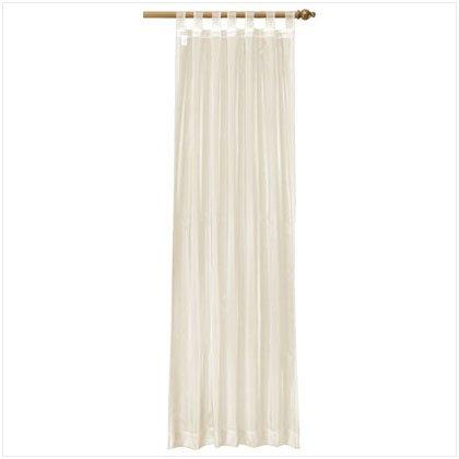 37061 Beige Organza Tab Top Curtain