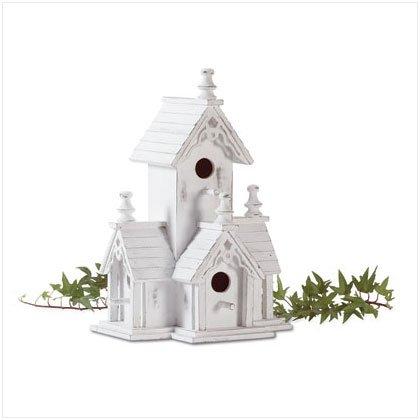 32347 Wood Distressed Victorian Birdhouse