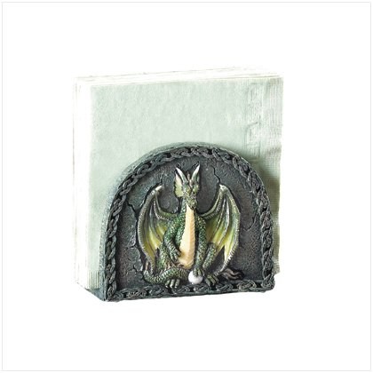 37075 Green Dragon Napkin Holder
