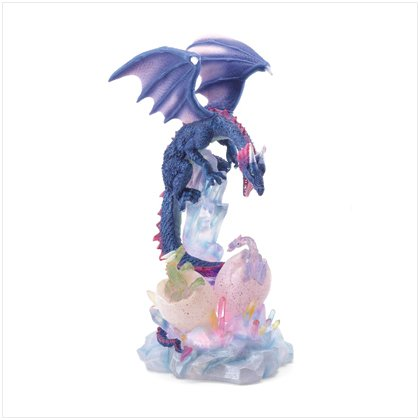 37076 Blue Dragon with Eggs LED Light