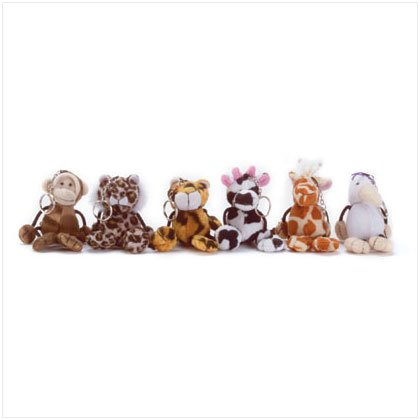 33124 1 Dz Plush Animal Keychains (Retail - 1.99ea.)