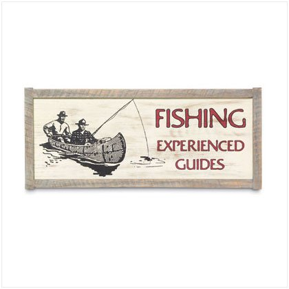 37194 Wooden Fishing Wall Plaque