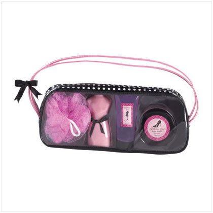 36378 Glamour Gal Bath Set-dots Bag