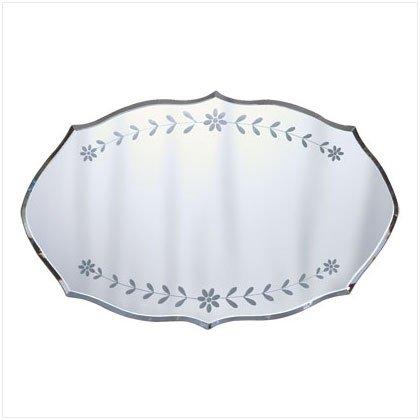 35238 Etched Floral Design Mirror