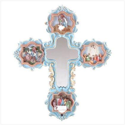 35297 Life of Jesus Mirror Cross
