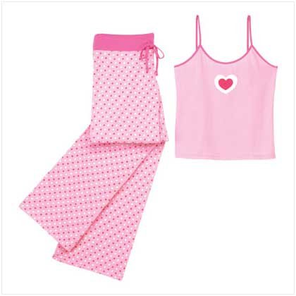 38121 Multi Hearts Camisole PJ Set - Large