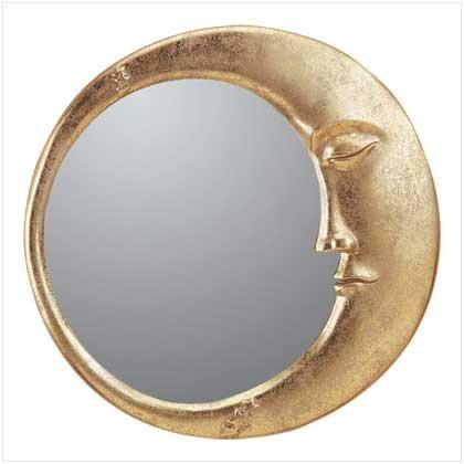 30103 Alabastrite Gold Moon Wall Mirror
