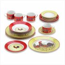 38130 Country Rooster Dinnerware Set