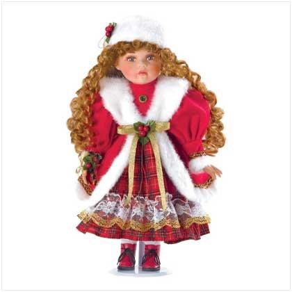 38175 Christmas Caroler Doll