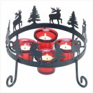 38375 Rustic Reindeer Candleholder