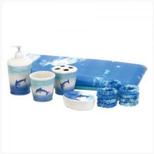 37749 Dolphin Bathroom Set