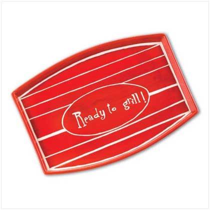 37753 Red Backyard BBQ Meat Tray