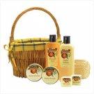 38051 Orange Bath Set in Willow Basket