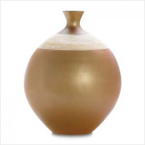 38387 Lacquer and Bamboo Ceramic Vase
