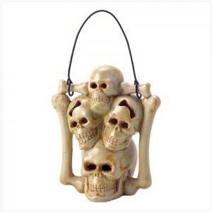 38227 Skull Candleholder