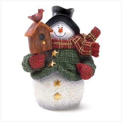38252 Snowman Woodworker Figurine