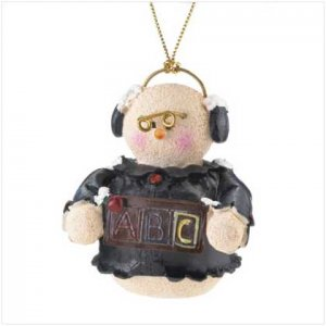 37220 Snowberry Cuties Teacher Ornament