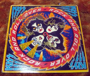 """KISS    signed   AUTOGRAPHED  """"rOCK oVER """"  record        *PROOF"""