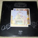 """LED ZEPPELIN   autographed   SIGNED     """" songs remains """"    RECORD       *proof"""