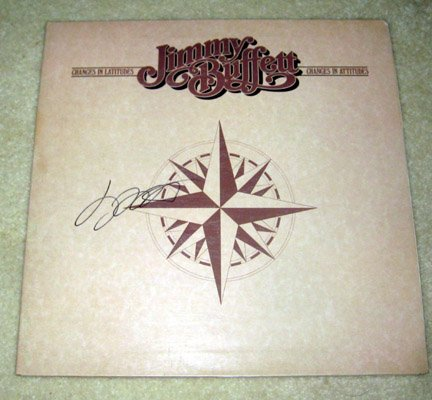 """JIMMY BUFFETT   signed     AUTOGRAPHED     """" Changes """"     RECORD   !"""