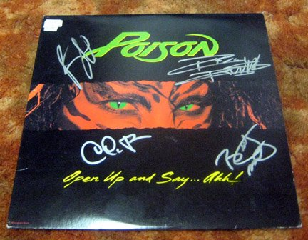 POISON   autographed   SIGNED   #1   Record          *PROOF