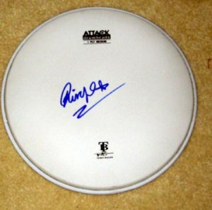 BEATLES   ringo starr   AUTOGRAPHED  signed  DRUMHEAD  !