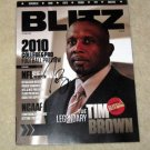TIM BROWN  raiders  AUTOGRAPHED  signed  MAGAZINE  !