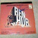 CHARLTON HESTON    ben - hur     AUTOGRAPHED    signed    LASER DISC         *proof