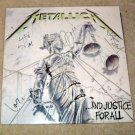 "METALLICA    autographed   SIGNED      ""  Justice ""    RECORD        *proof"