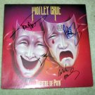 "MOTLEY CRUE     autographed      SIGNED    ""Theatre""     RECORD       *proof"