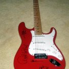 VAN HALEN     w/ roth    AUTOGRAPHED    signed   GUITAR       *proof