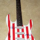 EAGLES  group  SIGNED  autographed  USA  Guitar   *proof