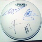MOTLEY CRUE  signed  AUTOGRAPHED  new  DRUMHEAD  *Proof